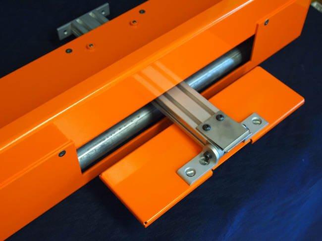 Conveyor shelf with slide